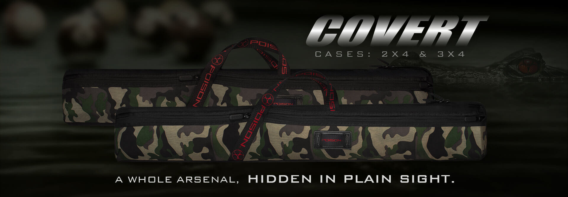 Poison Covert Camouflage Pool Cases